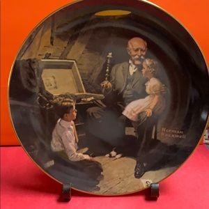 """Norman Rockwell decor plate """" Grandpa """""""